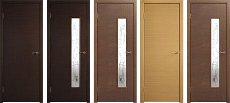 Межкомнатные двери модельной линии 350 шпон