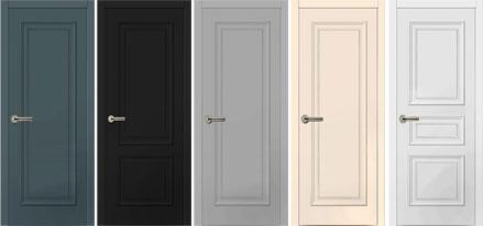 Межкомнатные двери с накладными элементами объемных профилей