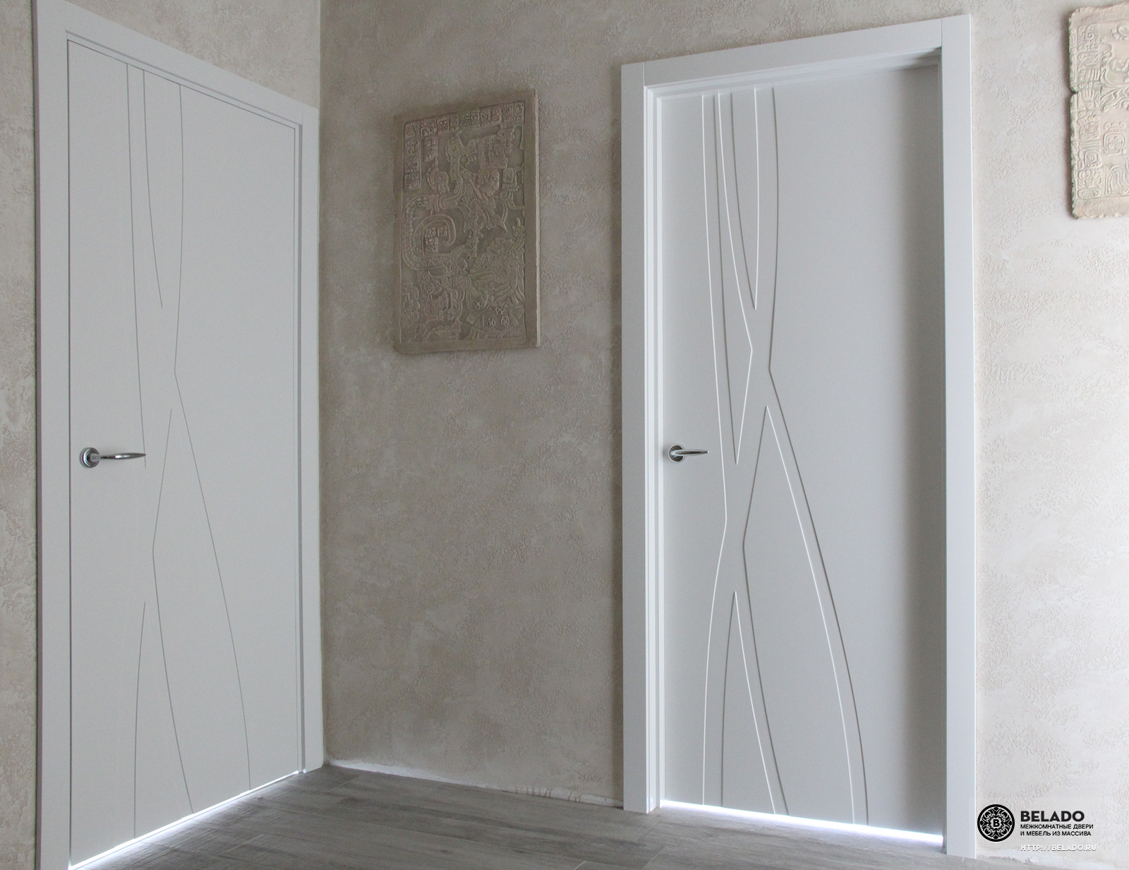 межкомнатные белые двери модная классика двери в