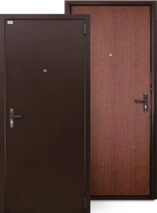 дверь с покраской «Антик медь», внутренняя отделка - ЭПЛ панель, цвет «Орех Итальянский»