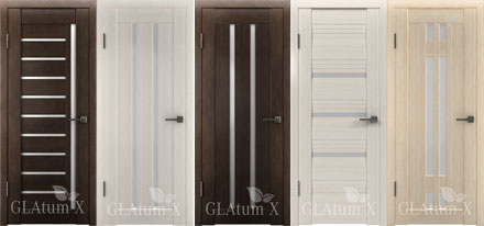 Двери с PVC покрытием серии GLAtum X.