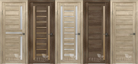 Двери с PVC покрытием серии GL Light.