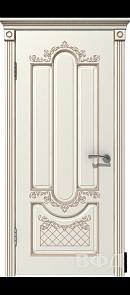 Межкомнатная дверь Александрия ДГ, эмаль слоновая кость/патина капучино