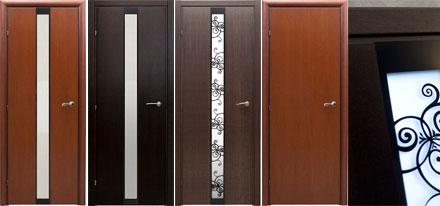 Межкомнатные двери линии 7000 с отделкой натуральным шпоном