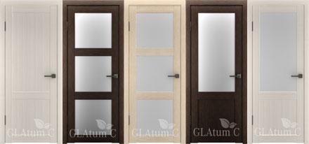 Двери с PVC покрытием серии GLAtum C.