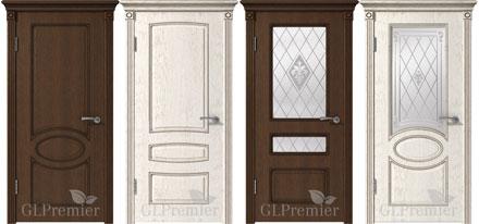 Двери, покрытые патиной PVC серии GL Premier.