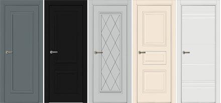 Межкомнатные двери линии 750 МДФ с покрытием эмалью