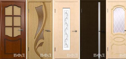 Межкомнатные двери ВФД, покрытые шпоном fine-line