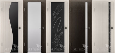 Двери с PVC покрытием серии GL Triplex
